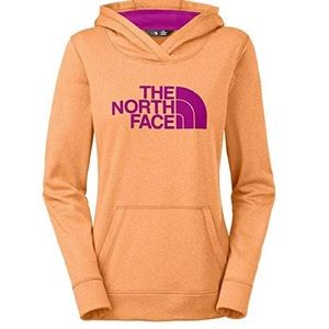 NWOT The North face hoodie sweatshirt orange pink